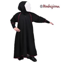 abaya-hijab-enfant-rose-noir-mouhajiroun-tijara.shop
