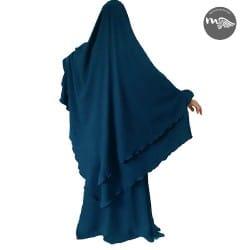 ensemble-abaya-khimar-halimah bleu graphite-tijara.shop