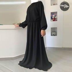 ensemble-abaya-khimar-halimah noir-tijara.shop