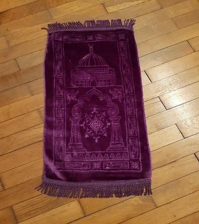 mini tapis de priere violet-tijara.shop