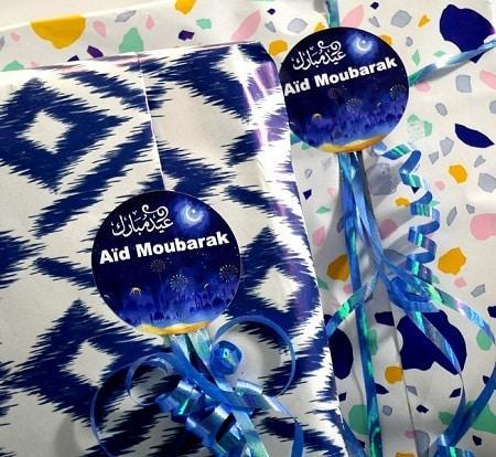lot de 12 autocollants stickers bilingue aid moubarak2-tijara.shop