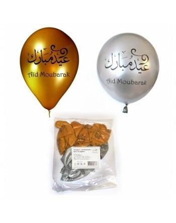 sachet-de-10-ballons-aid-moubarak-argente-et-dore-tijara.shop