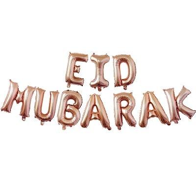 10pcs-lettres ballon eid mubarak guirlande rose-tijara.shop